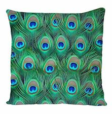PEACOCK ALL OVER CUSHION COVER PILLOW CASE FASHION IDEAL GIFT BIRTHDAY PRESENT