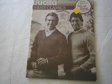 Vintage 1966 Bucilla Men's Classics Knit Pattern Book Sweater Vest Cardigan #96