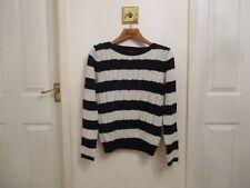 River Island Black & White striped Jumper, long sleeved, Size 10
