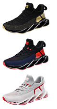 Sport Breathable fashion knit Blade shoes casual running sneakers for men *NIB*