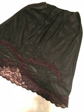 "Gorgeous Black Half Slip by Movie Star, Lace, Size Medium, 25"" Long, Detailing!"