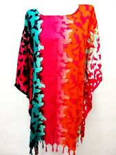 P 4 CAFTAN TUNIC KAFTAN BLOUSE BATWING BUTTERFLY COLORFUL LOOSE BEACH DRESS LADY