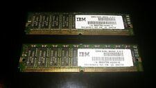 EDO RAM 72 PIN 64MB KIT (32MBX2) 60 NS IBM  ECC VINTAGE MEMORY RETRO PC CARD