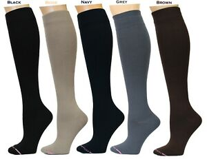 5 Pairs Dr. Motion Therapeutic 8-15mm Compression Women's Knee-hi Socks (SLD)