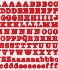 Creative Memories LARGE BOLD ABC / 123 Stickers - RED