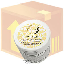 Shine Wax Strong Hold box 12 pcs x 100ml OlioSeta ®Seta & Lino Oro di Luce Forte