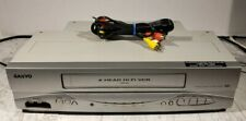 Sanyo VWM-950 4 Head Hi-Fi Stereo VCR VHS with Front A/V Inputs Tested and Works