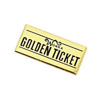 Willy Wonka Golden Ticket Enamel Pin Funny Retro Movie Lapel Pin Wonka Bar