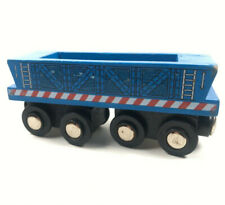 2017 Blue Wood Train Cars Maison Joseph Battat Toy Railroad Magnet