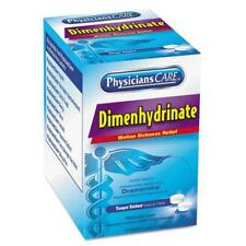 Acme United 90031 Dimenhydrinate (motion Sickness) Tablets, 2/pack, 50 Pack/box