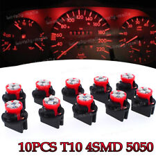 10x Red T10 4SMD LED Instrument Panel Lights Dashboard Lamp for Toyota Tacoma