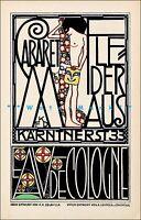 Cabaret Fledermaus 1907 Jugendstil Art Nouveau Vintage Poster Print Art