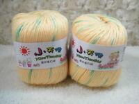 4*50g Skeins Wool Cashmere Silk Baby Yarn lot;Sock Yarn;Sport;200g;yellow green
