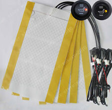 2 seats install,Universal round switch seat heater,heated seat kit,4 pads