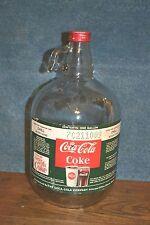 Vintage One Gallon Coca-Cola Coke Fountain Syrup Glass Jug Bottle - BALL GLASS