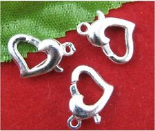 FREE SHIP Wholesale 10Pcs silver-plated Heart Lobster Clasps 12X9mm SH314