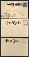 Us 1905 Lewis & Clark Expo Portland Oregon 3 Pc Of The Colonade, European Bldg &