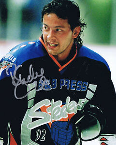 Rocket Ron Shudra HAND SIGNED Autograph Sheffield Steelers 10x8 Photo AFTAL COA