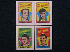 4-RARE 1971 Hockey Booklets(PHIL ESPOSITO/HENRI RICHARD/GARY SMITH/GEL PERREAULT