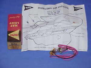 1959 DeSoto Firesweep, MS1, Map Lamp PACKAGE NOS MoPar #1887008