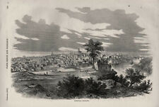 View of Nashville, Tennessee - Railroad Bridge across Cumberland   -  Civil War
