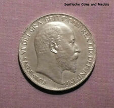 1902 KING EDWARD VII MATT PROOF SILVER CROWN - Nice Example