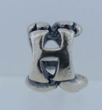 Authentic Trollbeads Letter H 11144H New .925 Silver Charm Bead