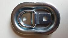 4 Stück Zurrbügel Zurröse Bodenzurring 350 daN 70x104mm oval 3-tlg. Größe 0