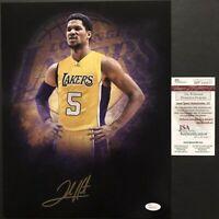 Autographed/Signed JOSH HART Los Angeles LA Lakers 11x14 Photo JSA COA Auto #2