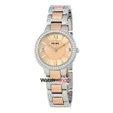 Fossil Virginia Rose Dial Two-tone Ladies Watch ES3405