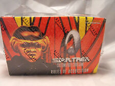 STAR TREK CCG RULES OF ACQUISITION COMPLETE SEALED BOX OF 30 PACKS