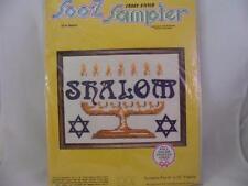 Soo-z Cross Stitch Sampler Shalom No. S134 Fits 9x12 Frame