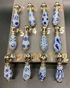 Blue & White Ceramic Door/Drawer Pulls Beautiful Rustic Style Sold individually