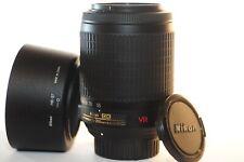 Nikon DX AF-S VR Nikkor 55-200mm G ED lens HB-37 NICE for D7500 D3300 D500 D7200