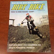 DIRT BIKE OCTOBER 1972 SUZUKI 250 MX OSSA LACKEY VINTAGE MOTOCROSS ACTION VMX RM