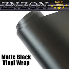 "12""x60"" FLAT MATTE BLACK Vinyl Wrap Film Car Sticker Decal Sheet Air Release"