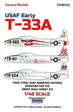 Caracal Decals 1/48 LOCKHEED T-33A SHOOTING STAR Early U.S.A.F. Service