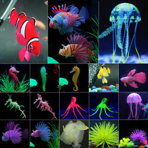Artificial Fake Jellyfish Coral Seahorse Fish Aquarium Fish Tank Water Ornaments