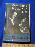 Author Insribed Book Fritz Busch German Conductor Hans Aus Dem Leben Eines Musik