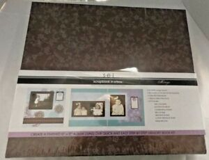 SCRAPBOOK IN A BOX 12 x 12 Album Memory Book Kit Over 200 Pieces NEW