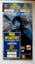 PAUL MAC CARTNEY ticket avec souche  concert de PARIS BERCY du 11 octobre 1993