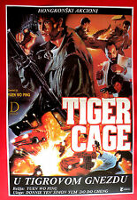 TIGER CAGE 1988  JACKY CHEUNG CAROL 'DO DO' CHENG SIMON YAM EXYU MOVIE POSTER