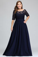 Evening Long Prom Dresses Formal Party Ball Gown Bridesmaid Dress Plus Size