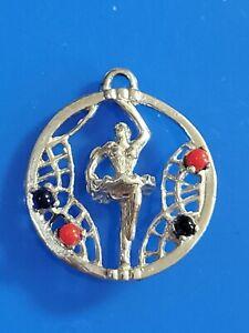 Vintage Sterling Silver Ballet Dancer ~ Ballerina ~ Footlights ~ MAVO Charm