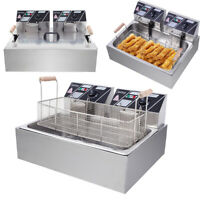 22L Commercial Electric Deep Fryer Large Tank Restaurant Food French Frys Cooker