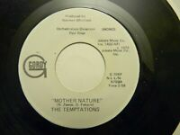 THE TEMPTATIONS MOTHER NATURE MONO/STEREO 45 GORDY RECORDS R&B SOUL