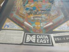 Data East Simpsons Pinball Machine - 1990 with manual, needs work but working