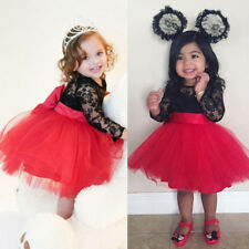 ffab1a9498fa4 Princess Kids Baby Girls Lace Flower Dress Tutu Party Wedding Gown Formal  Dress