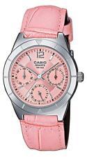 Reloj Casio Rosa LTP-2069L Correa Cuero Analógico Mujer o Niña LTP2069L LTP2069