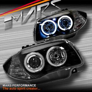 Black CCFL Angel-Eyes Projector Head Lights for BMW E81 E82 E87 E88 1 Series